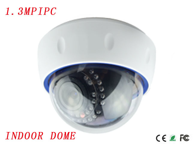 Indoor B/W Star-Light 128mm*100mm 1.3MP 0.0001 Lux Infrared Dome IP Camera with 960p 20fps Video Dual Stream Camera {Ipc-B5413PE-IR2}