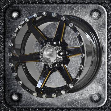 Nice Color Big Rivets and Caps SUV Alloy Wheels