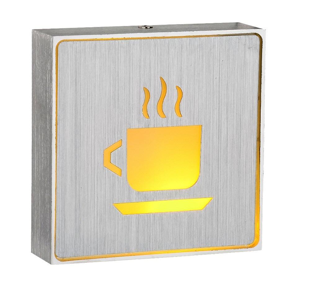 Indoor Aluminium Box LED Emergency Rechargeable 1W Light