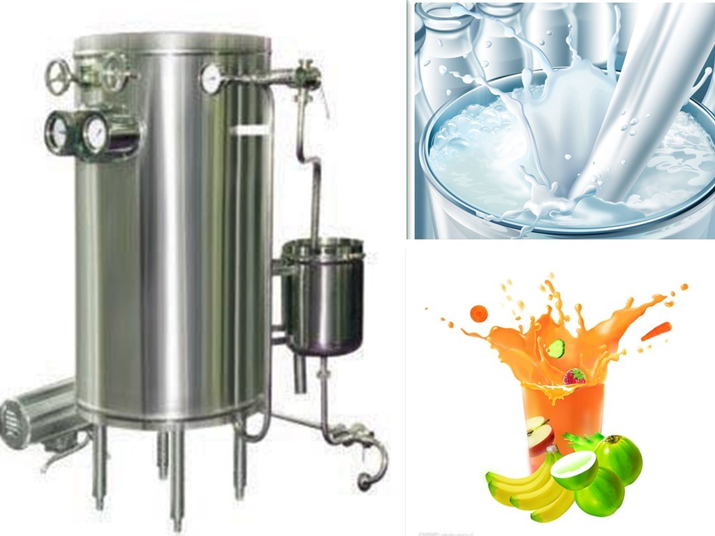 Food Sanitary Stainless Steel 1000L/H Coil Ultra High Temperature Pasteurizer