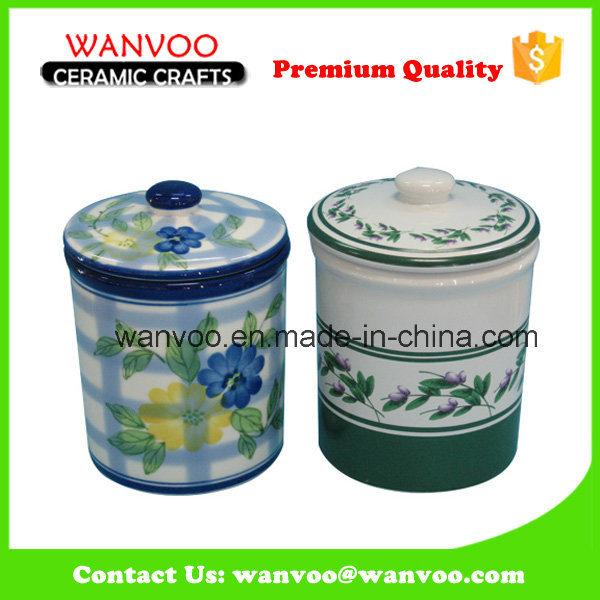 Home Decor Canister Ceramic Cookie Storage Jar