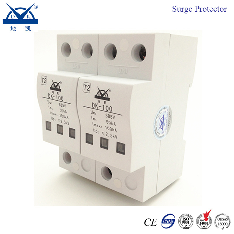 DIN Rail 2p Single Phase AC 220V Power Surge Protector