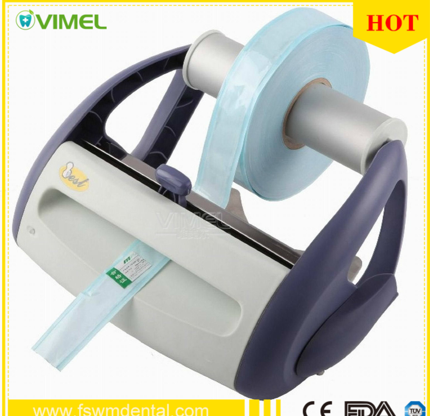 Wall Mounted Dental Pulse Sealing Machine for Sterilization Package