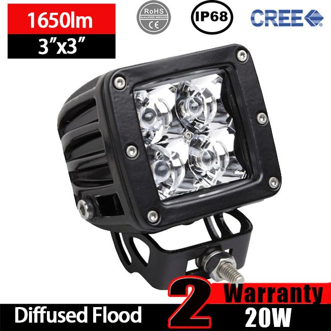 3X3 LED Cube Light (20W, Waterproof IP68)