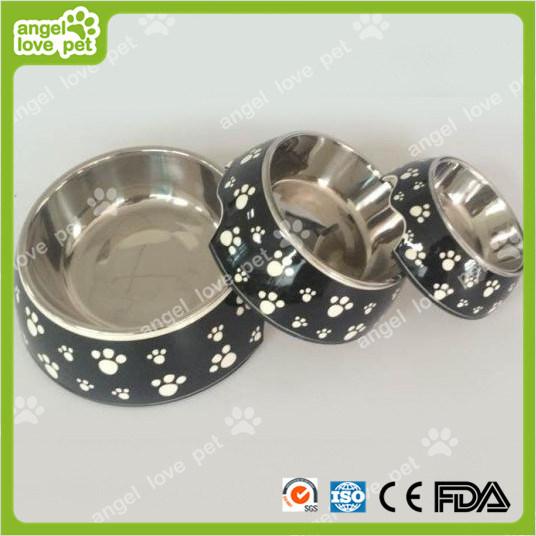 Classical Plastic Footprint Pattern Plastic Pet Dog Bowl