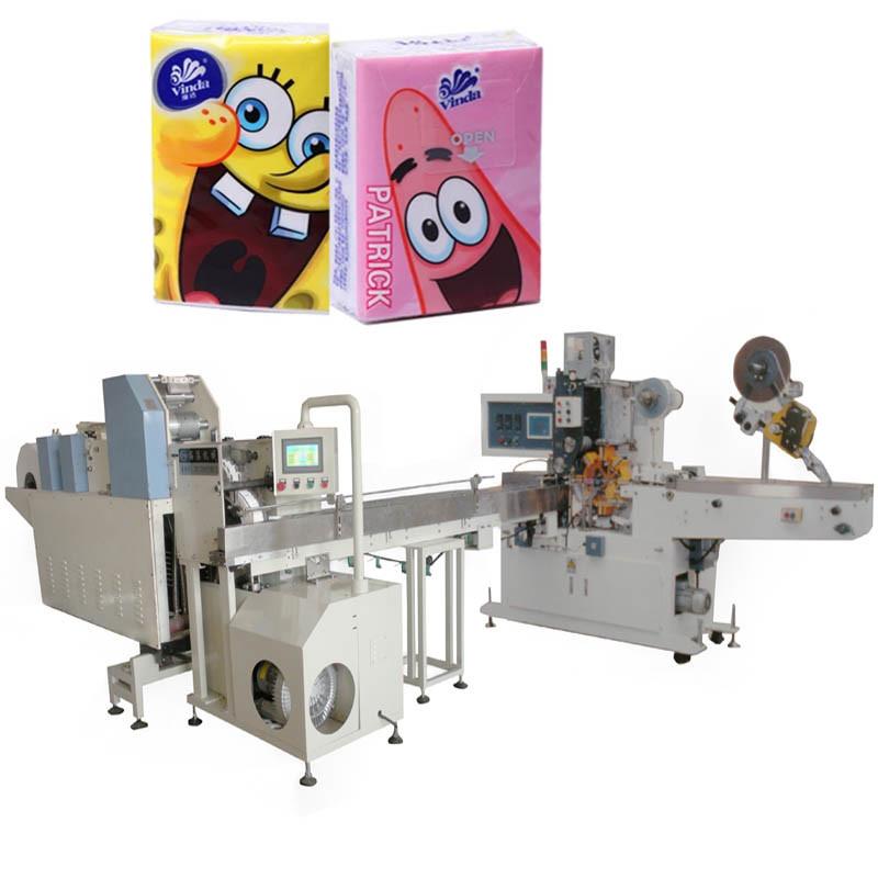 Bag Making Machinery Pocket Facial Tissue Paper Making Machine