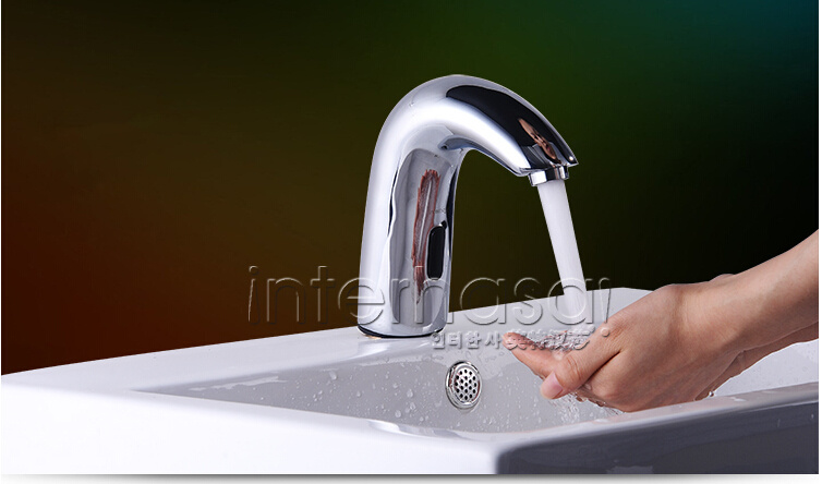 Deck-Mounted Induction Cold and Hot Sensor Hands Free Commerical Kitchen Bathroom Toilet Faucet