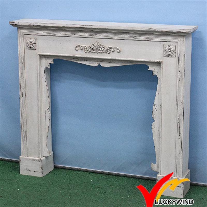 Shabby Chic Vintage Antique Indoor Freestanding Decoritive Mantel Fireplace