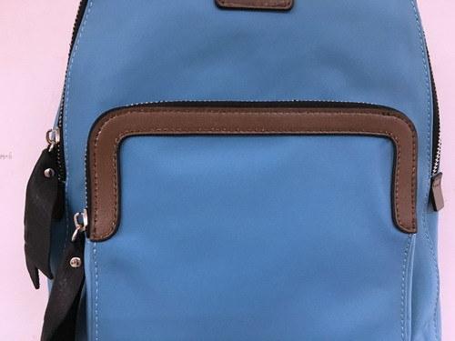 Wholesal Fashion Lady Nylon with Leather Backpack /Hight Quality (1607-47)