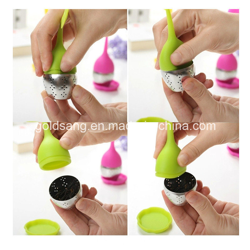 Popular for Promotion Leaf Silicone Tea Infuser /Stainless Steel and Silicone Material Tea Infuser