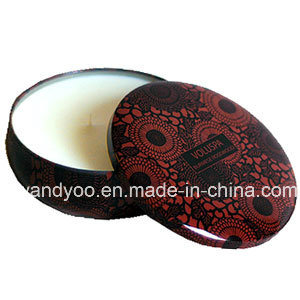 Round Natural Scented Tin Massage Candles with Three Wicks