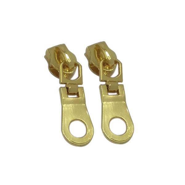 Hot Sale Custom Logo Engraved Zinc Alloy Metal Zipper Slider