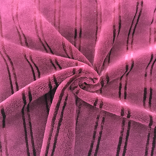 100% Polyester Bright Silk 7 Jacquard Flannel Fabric