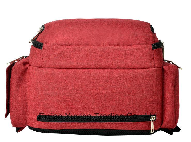 Red Multifunction Double Shoulder Mom Bag
