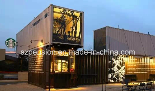 Low Profit Mobile Prefabricated/Prefab Container Coffee House for Hot Sale