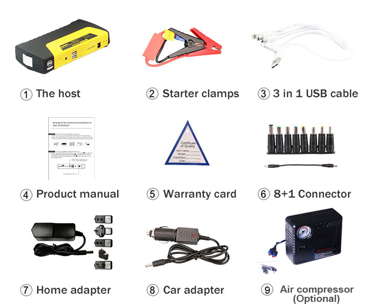 16800mAh Multi-Function Power Bank Car Jump Starter