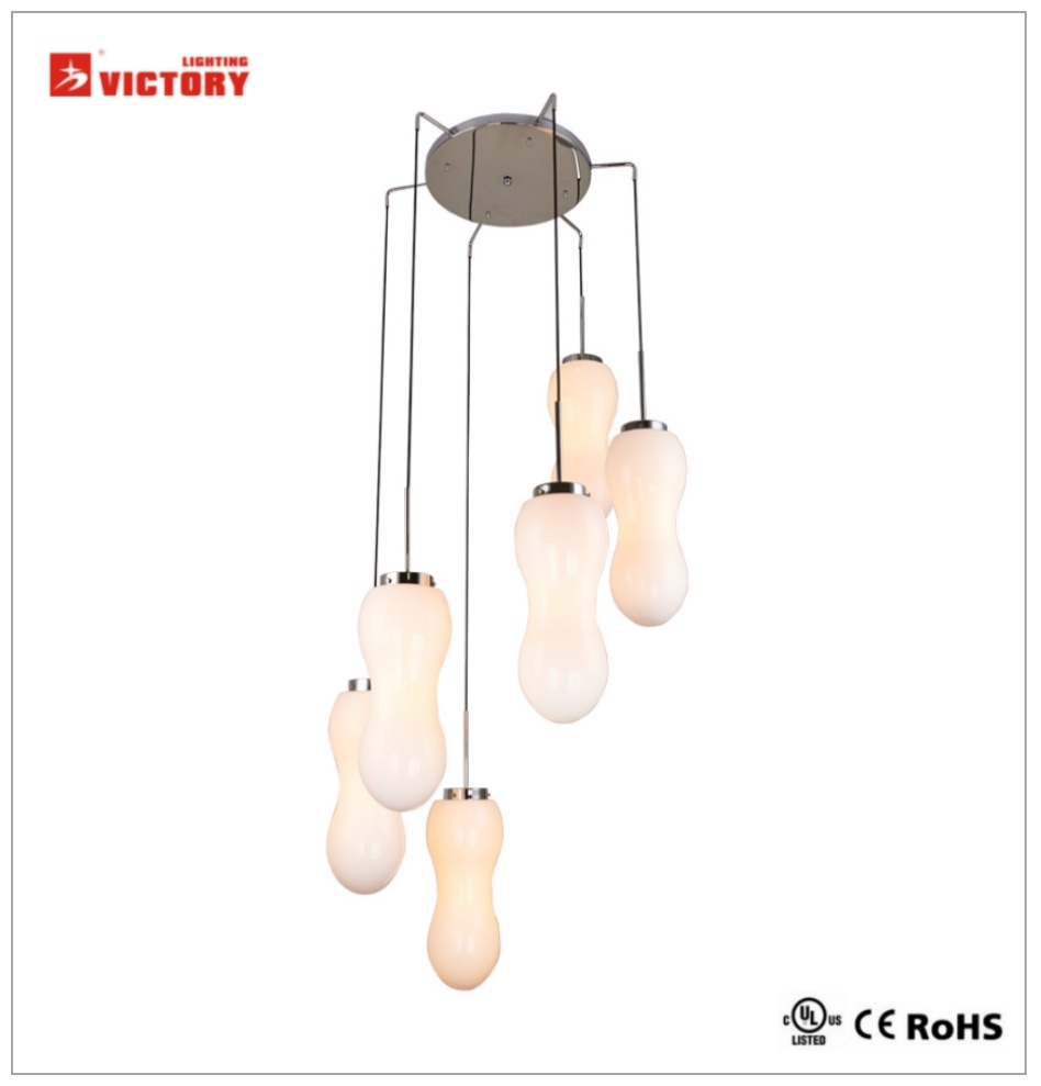 Glass Chandelier Modern Simple Decorative Pendant Lamp