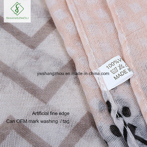 2017 New Design Printed Viscose Shawl Fashion Lady Scarf Factory