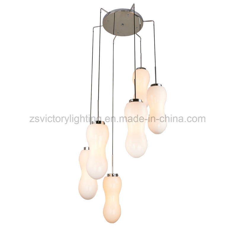 Modern Newest Design Glass Chandelier LED Pendant Lights Lamp