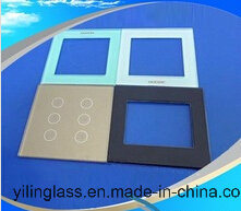 Tempered Switch Panel Touch Glass with Function Button Design