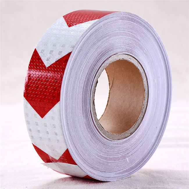 Self-Adhesive PVC Arrow Reflective Safety Warning Conspicuity Tape (C3500-AW)
