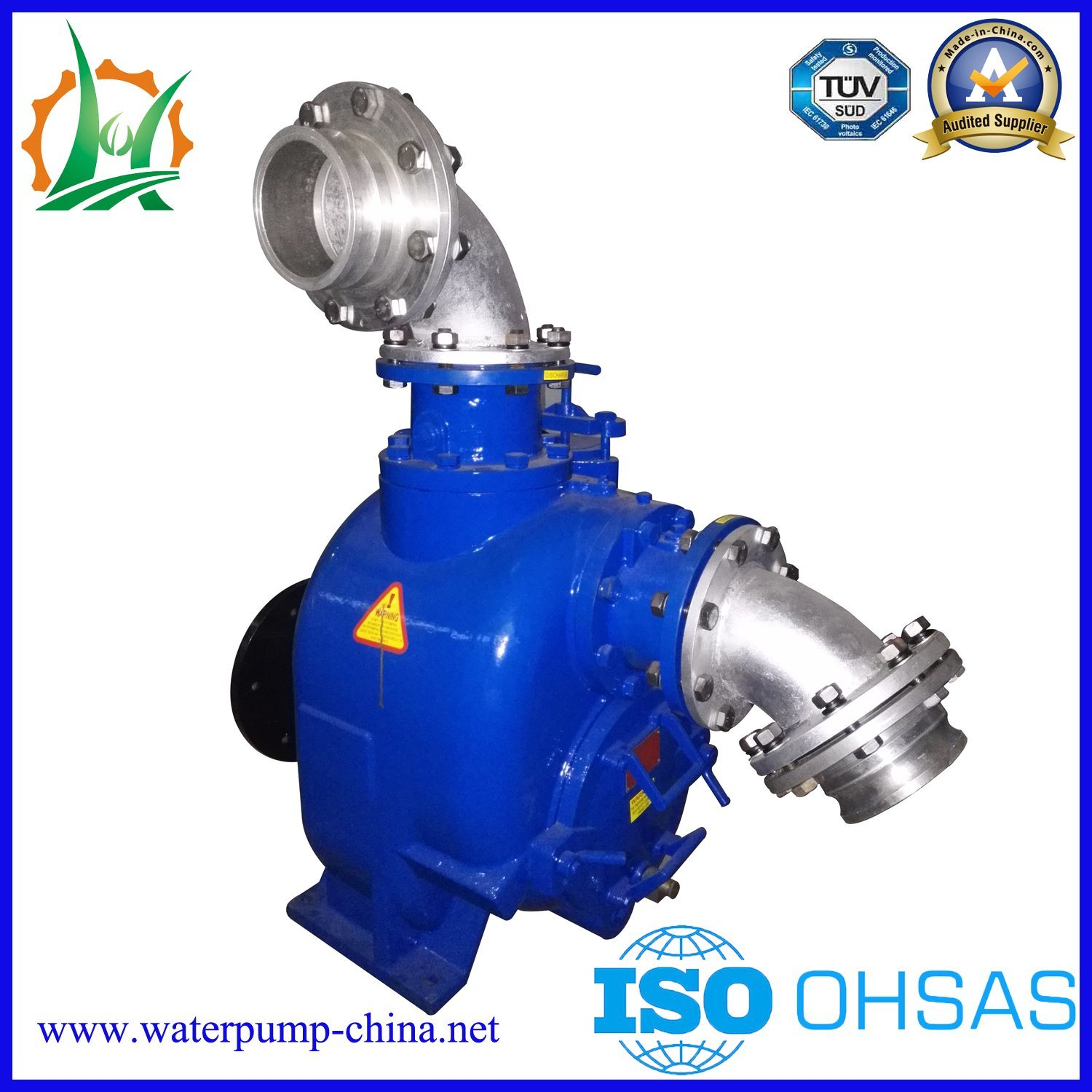 Self-Priming Diesel Engine Sewage/ Trash Non Clogging Centrifugal Water Pump