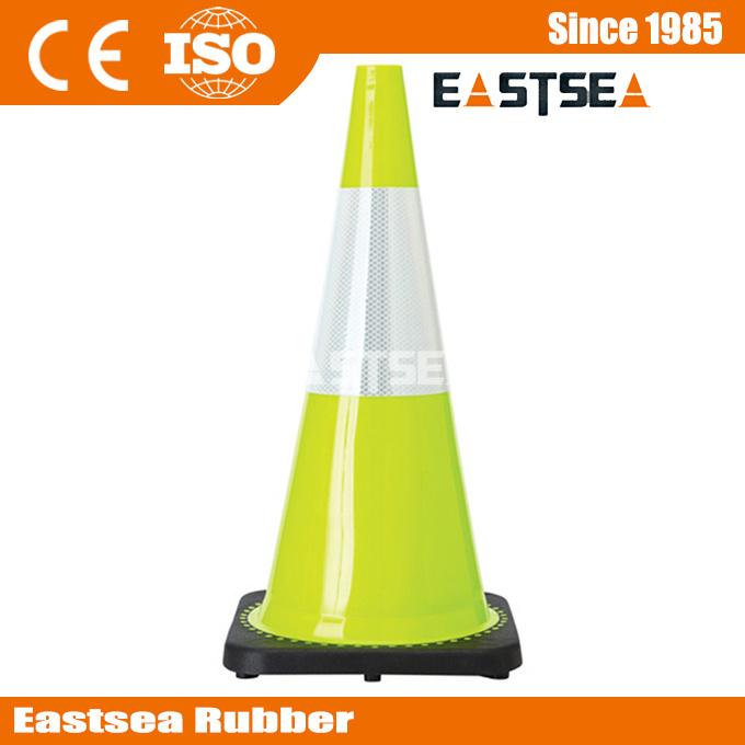 Orange/Yellow/ Lime Green Flexible PVC Road Safety Traffic Cone