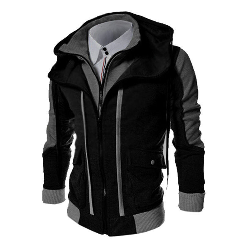 Fashion Men′s Slim Fit Zipper Jackets (A509)