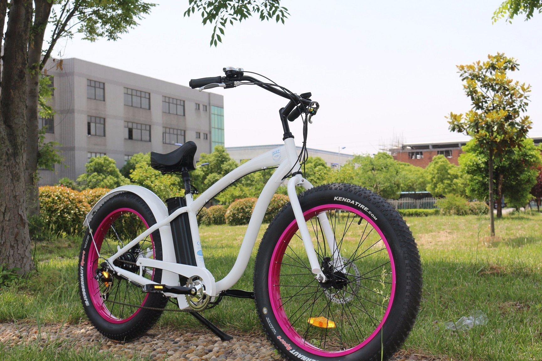City Cruiser 48V13ah All Terrain 4.0 Inch Wide Fat Tire 500W Beach Cruiser Electric Bike