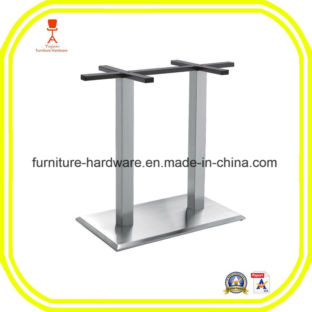 Furniture Hardware Parts Restaurant Stool Table Square Base with 2 Legs Aluminum