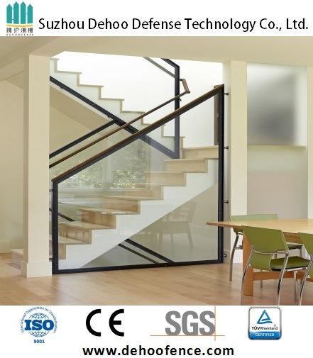 Modernized Galvanized Steel Glass Stair Handrail
