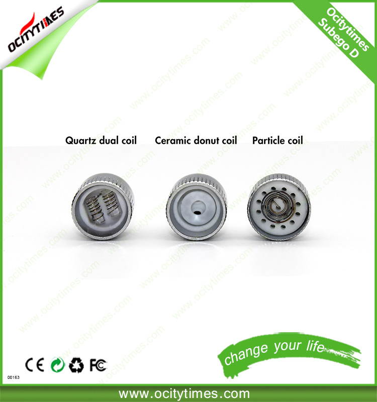 Ocitytimes Subego-D Replacement Coil Ceramic Atomizer Wax/Dry Herb Vaporizer