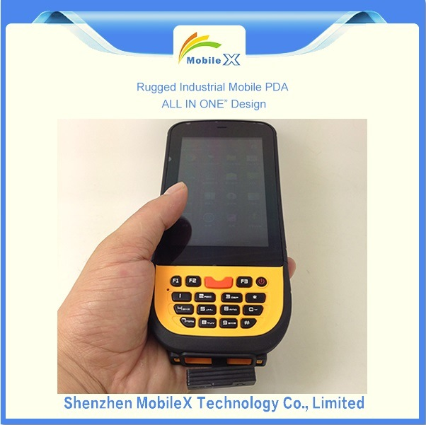 IP65 Rugged Industrial PDA, Hhu, Barcode Scanner, Lf RFID Reader
