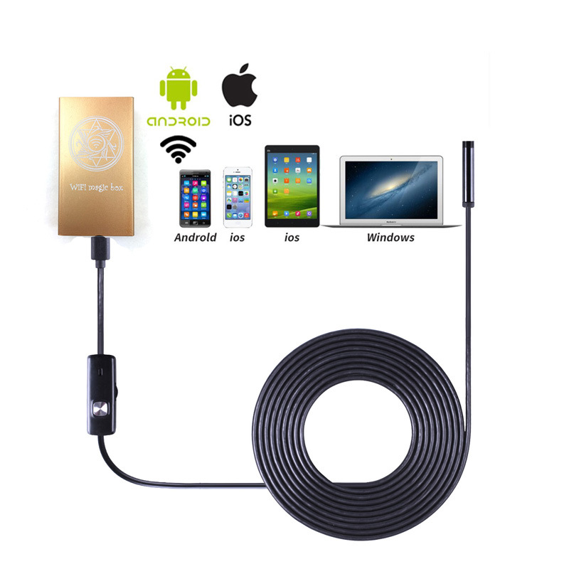 HD 720p WiFi Endoscope Inspection Snake Camera Borescope Video Inspection in Ios/Android/Windows PC