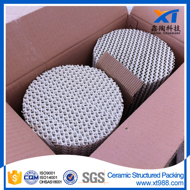 Ceramic Structured Packing Distillation Column Tower Packing
