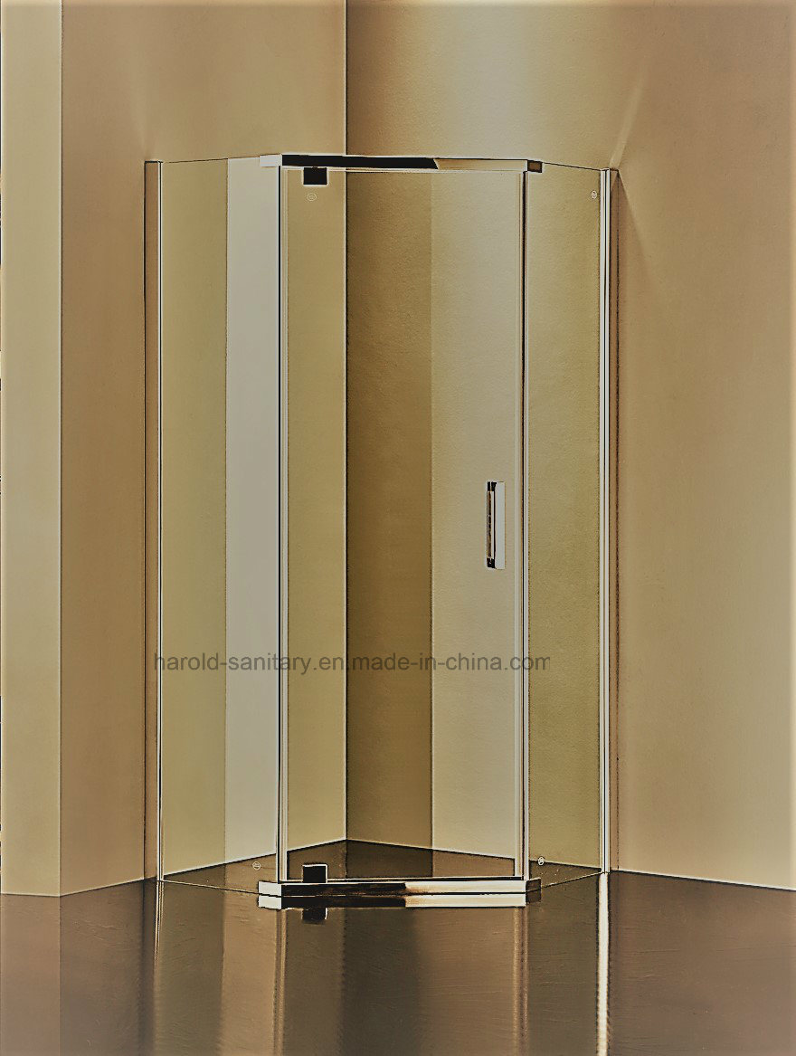 HR-P050 Diamond Shape Pivot Hinge Open Shower Enclosure