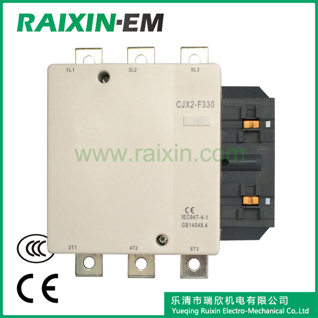 Raixin Cjx2-F330 AC Contactor 3p AC-3 380V 160kw Magnetic Contactor
