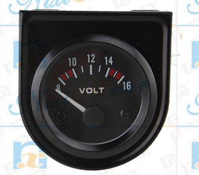 "2"" 52mm Voltmeter Gauge of Black Background"