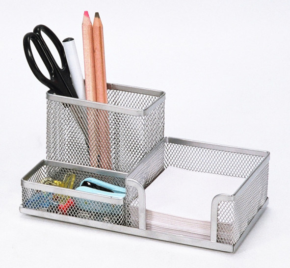 Desk Stationery Organiser/ Metal Mesh Stationery Organizer/ Office Desk Accessories