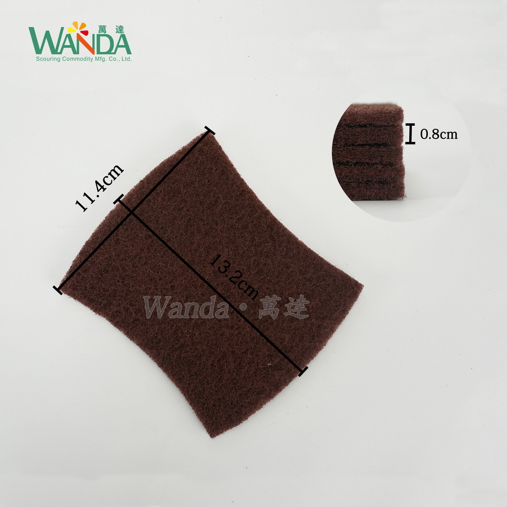 Bow-Tie Shape Abrasive Nylon Scouring Pad for Household Cleaning