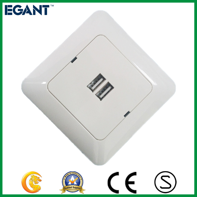 Euro 2 Ports 2, 4A USB Socket Outlet