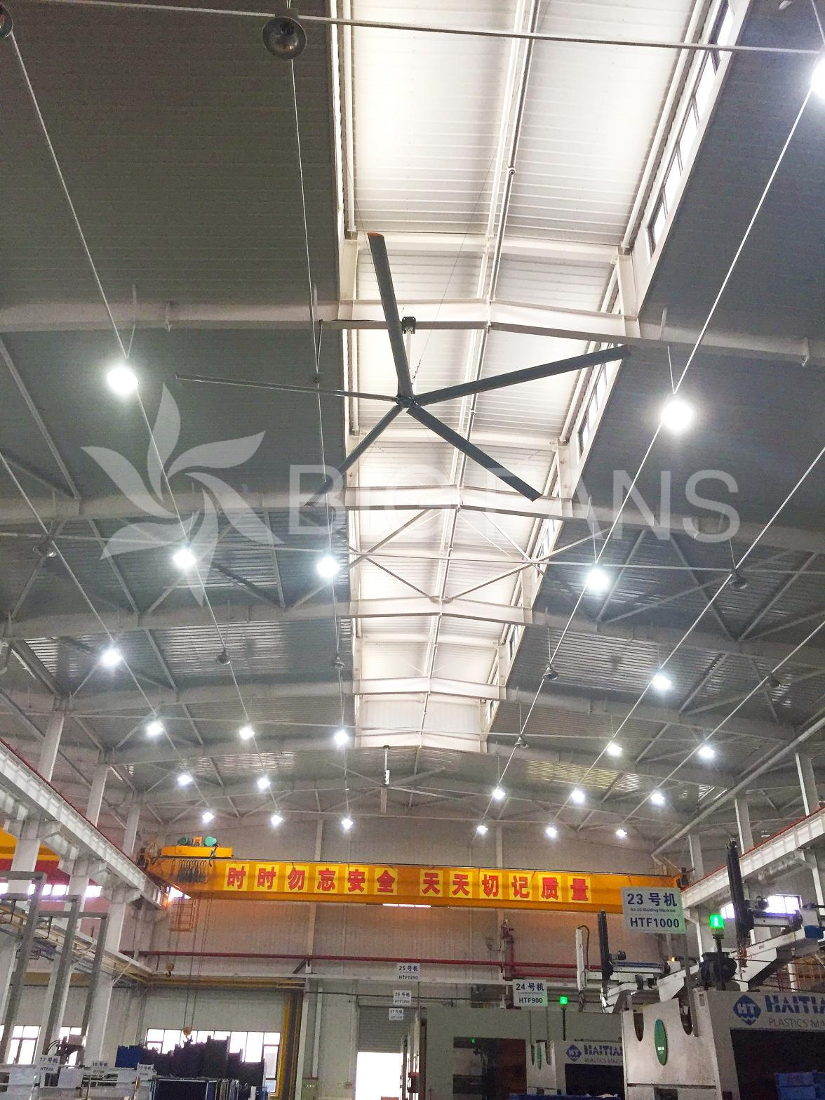 Bigfans 7.4m 380VAC Hvls Big Industrial Ceiling Fan