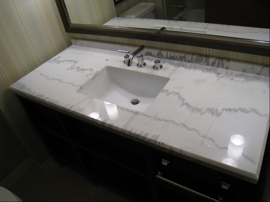 30 perfect bathroom vanities marble top Marble top bathroom vanities
