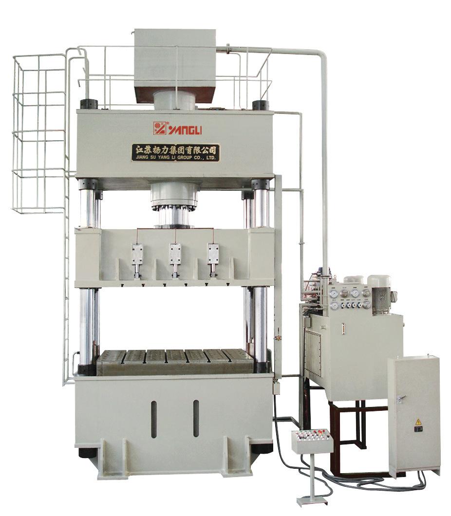 Yl27series Four-Column Hydraulic Press with Hydraulic Cushion
