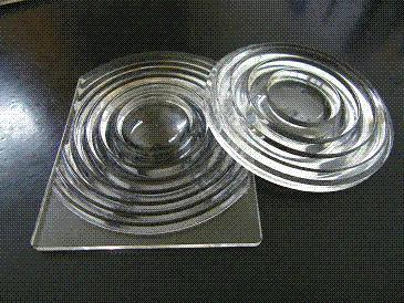 LED Optical Glass Fresnel Lens