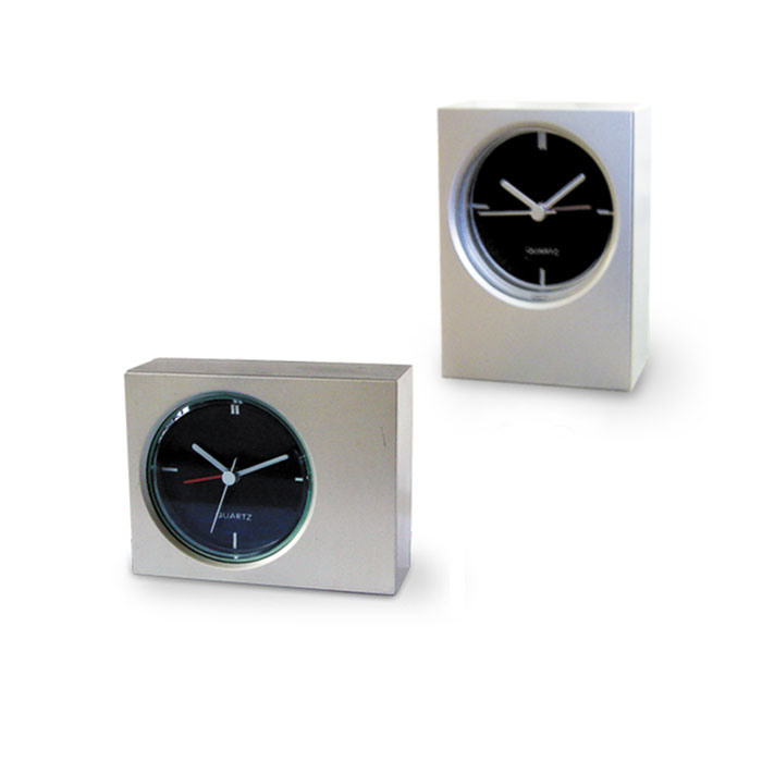 China Simple Alarm Clock In Sliver Cqp0143 China Alarm