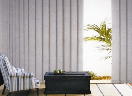 Fabric Vertical Window Blinds with Aluminum Headrail Blackout