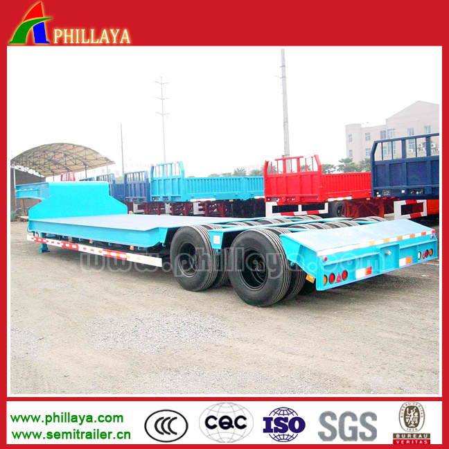 2lines 4axles 40-60tons Truck Lowboy Lowbed Low Bed Semi Trailer