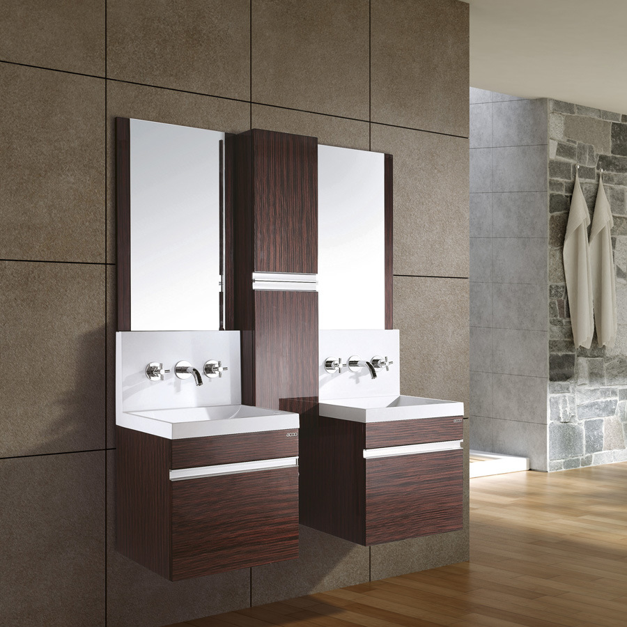 Dual Bathroom Sink : Double Sink Bathroom Cabinet / Bathroom Vanity Set (AC9034)