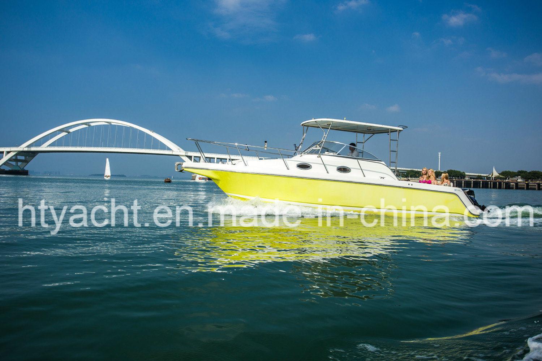 30′ Fiberglass Luxurious Fishing Boat Hangtong Factory-Direct